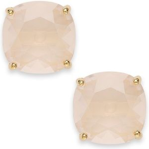 New in Box Kate Spade 12K Stud Earrings Light Pink
